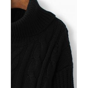 High-Low Color Block Cowl Neck Sweater -