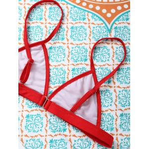 Spaghetti Straps Unlined Bikini Set -