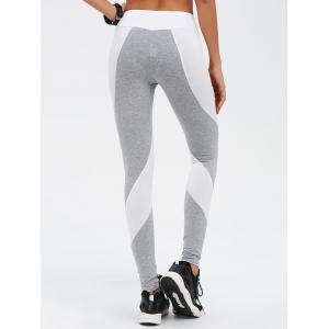 Stretchy Contrast Athletic Pants -