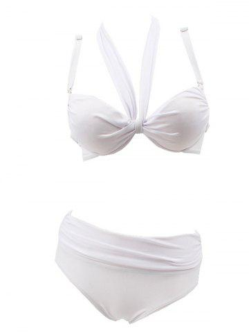 Cheap Underwire Ruched Bikini Set