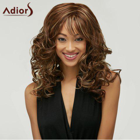 Latest Outstanding Charming Long Deep Wavy Towheaded Mixed Color Women's Synthetic Wig