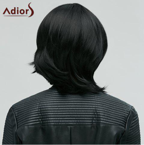 Adiors Stylish Black Side Bang Synthetic Fluffy Medium Natural Straight Women's Wig от Rosegal.com INT
