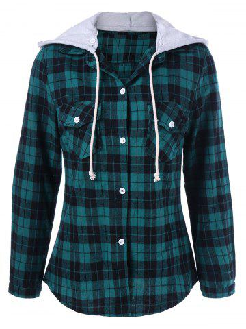 Store Plaid Hooded Flannel Shirt Hoodie