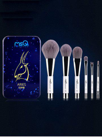 Affordable Aries 6 Pcs Magnetic Makeup Brushes Kit BLUE