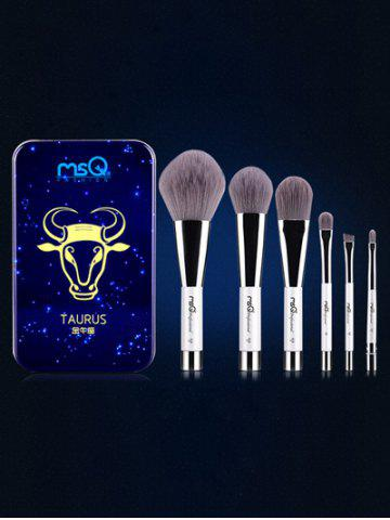 Store Taurus 6 Pcs Magnetic Makeup Brushes Kit BLUE