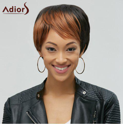Latest Adiors Hair Mixedcolor Synthetic Side Bang Short Wig COLORMIX