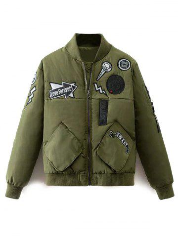 Online Patch Bomber Jacket