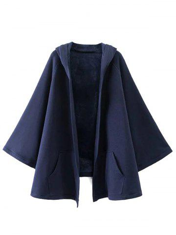 Shops Hooded Asymmetric Cape Coat