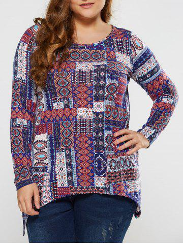 Store Plus Size Tribal Tee COLORMIX XL