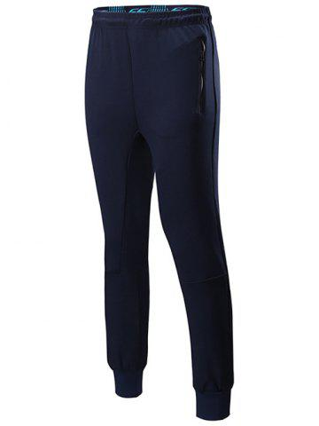 Hot Sports Jogging Pants with Zip CADETBLUE 2XL