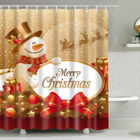 Chic Christmas Waterproof Fabric Shower Curtain - M COLORMIX Mobile