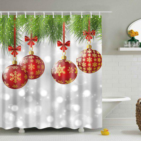 New Christmas Decor Polyester Waterproof Shower Curtain GRAY L