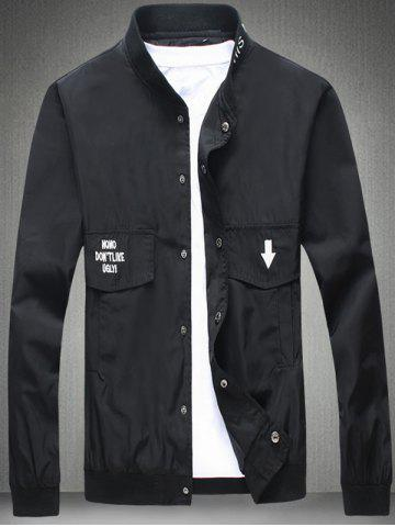 Latest Pocket Embroidered Snap Front Jacket