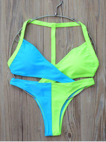 Store Two Tone Wrap Bikini Set