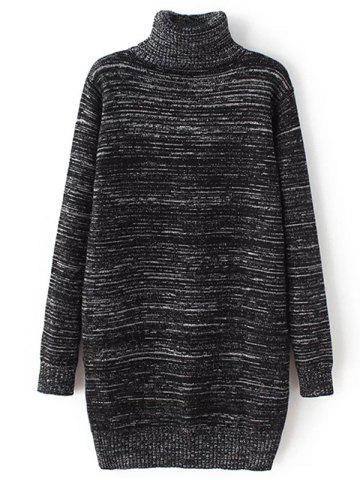 Chic Heather Long Turtleneck Sweater