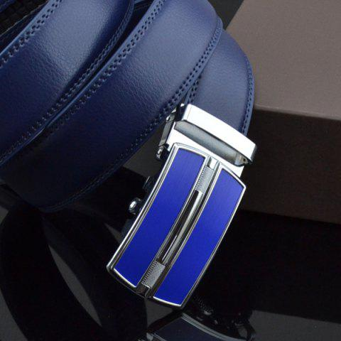 Cheap Automatic Buckle Faux Leather Belt - ROYAL  Mobile