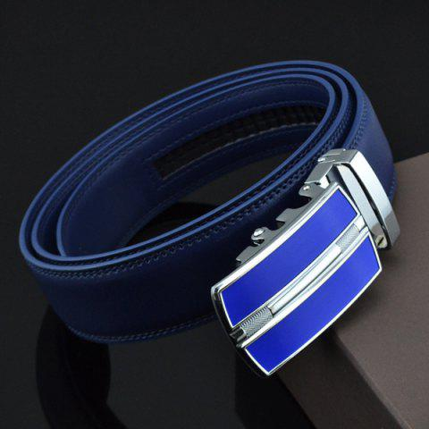 Fashion Automatic Buckle Faux Leather Belt - ROYAL  Mobile