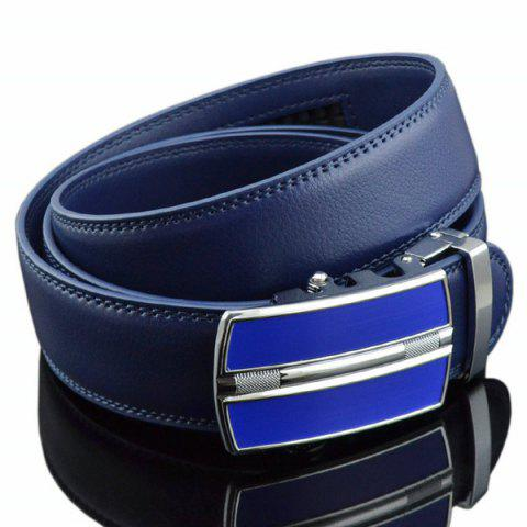 Hot Automatic Buckle Faux Leather Belt - ROYAL  Mobile