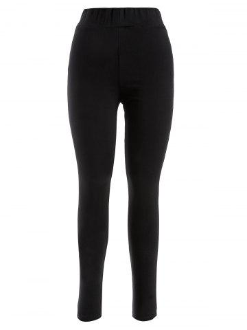 Outfits Plus Size Skinny Luster Flocking Leggings