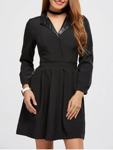 Store Turn Down Collar A Line Dress