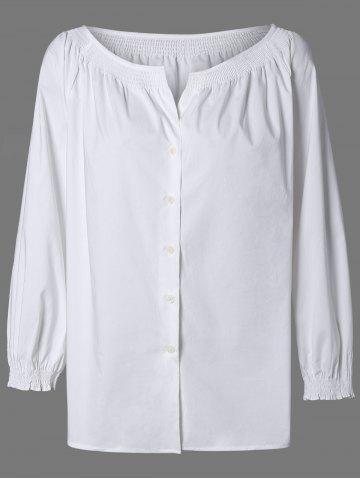 Chic Single Breast Raglan Sleeve Blouse