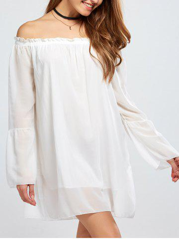 Cheap Chiffon Off The Shoulder Bell Sleeve Blouse