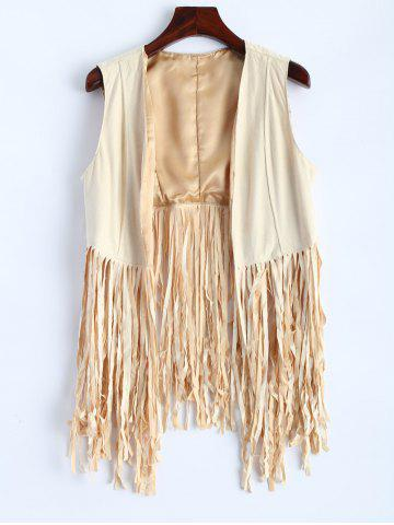 Hot Faux Suede Fringed Waistcoat