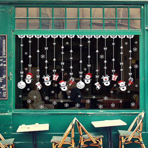 Best Removable DIY Snowman Pendants Christmas Wall Stickers - WHITE  Mobile