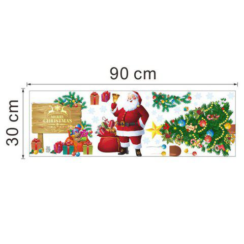 Cheap Christmas Santa Tree Removable Living Room Wall Stickers - COLORFUL  Mobile