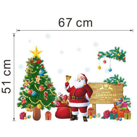 Best Christmas Santa Tree Removable Living Room Wall Stickers - COLORFUL  Mobile