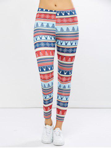 Online Christmas Ornate Print Leggings COLORMIX XL