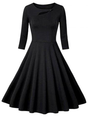 Discount Flounce Fit and Flare Vintage Dress
