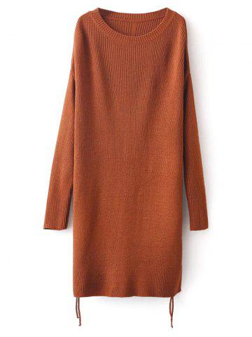 Hot Side Slit Long Sweater