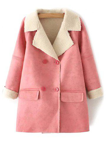 Buy Faux Shearling Suede Peacoat