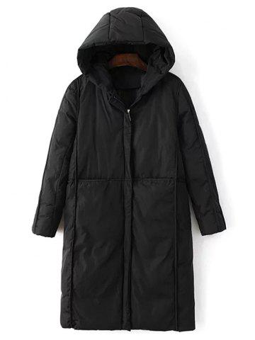 New Hooded Long Puffer Coat with Pocket