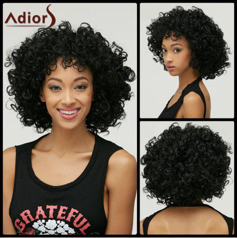 Fashion Afro Curly Synthetic Wig BLACK