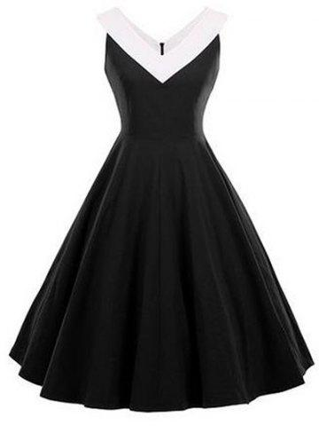 New Fit and Flare Vintage Sleeveless Dress