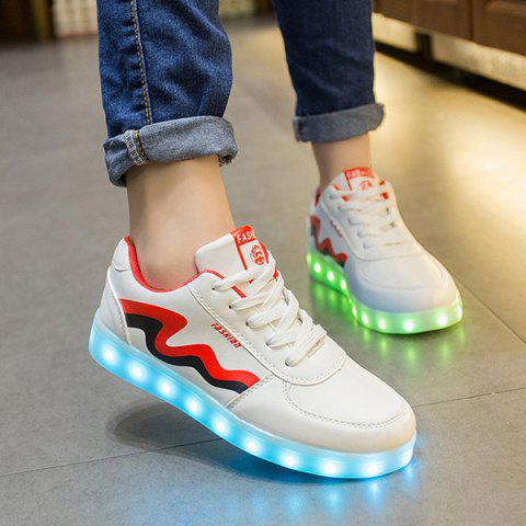 Unique Unisex USB Charging Sports Shoes Flashing Sneakers