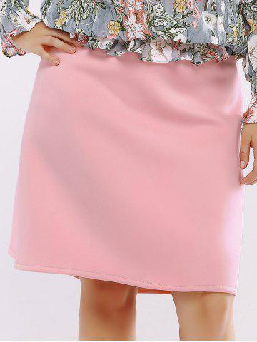 Latest Plus Size Zip Up Knee Length Skirt