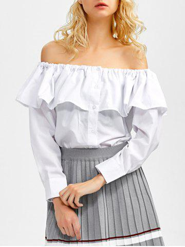 Store Off The Shoulder Ruffle Blouse