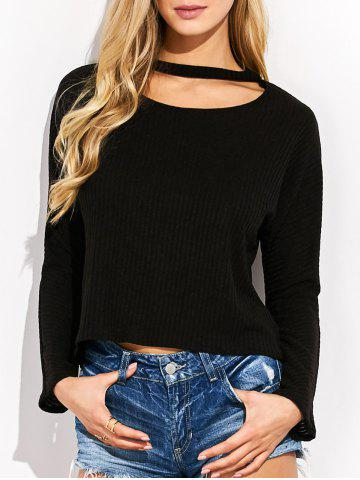 Sale Loose Choker High-Low Sweater