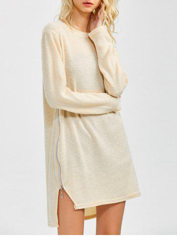Outfit Zipped Tunic Jumper Dress BEIGE S