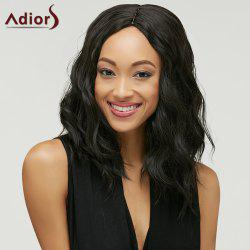 Trendy Black Brown Ombre Synthetic Fluffy Medium Natural Wave Women's Adiors Wig -