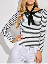 Bowknot Striped T-Shirt