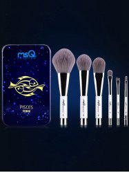 Pisces 6 Pcs Magnetic Makeup Brushes Kit
