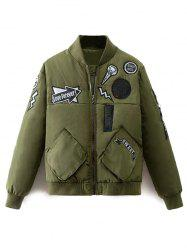 Patch Bomber Jacket -