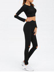 Crop top à manches longues et pantalon twin-set -