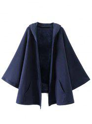 Hooded Asymmetric Cape Coat -