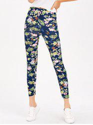 Floral Print Stretchy Leggings