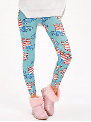 Abstract Elephant Print Stretchy Leggings -